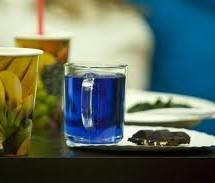 Сравнение цвета синего чая