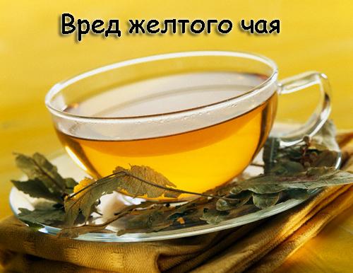 Желтый чай бывает вреден - будьте бдительны