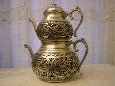 Красивый турецкий двойной чайник