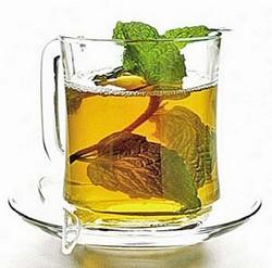 Чашка чая, мелисса трава