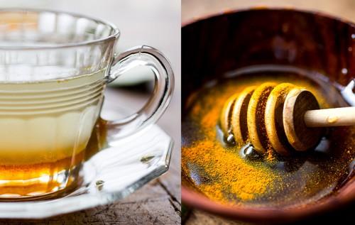 Кокосово-имбирный чай с лаймом, медом и куркумой