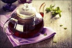 Заваренный ежевичный чай